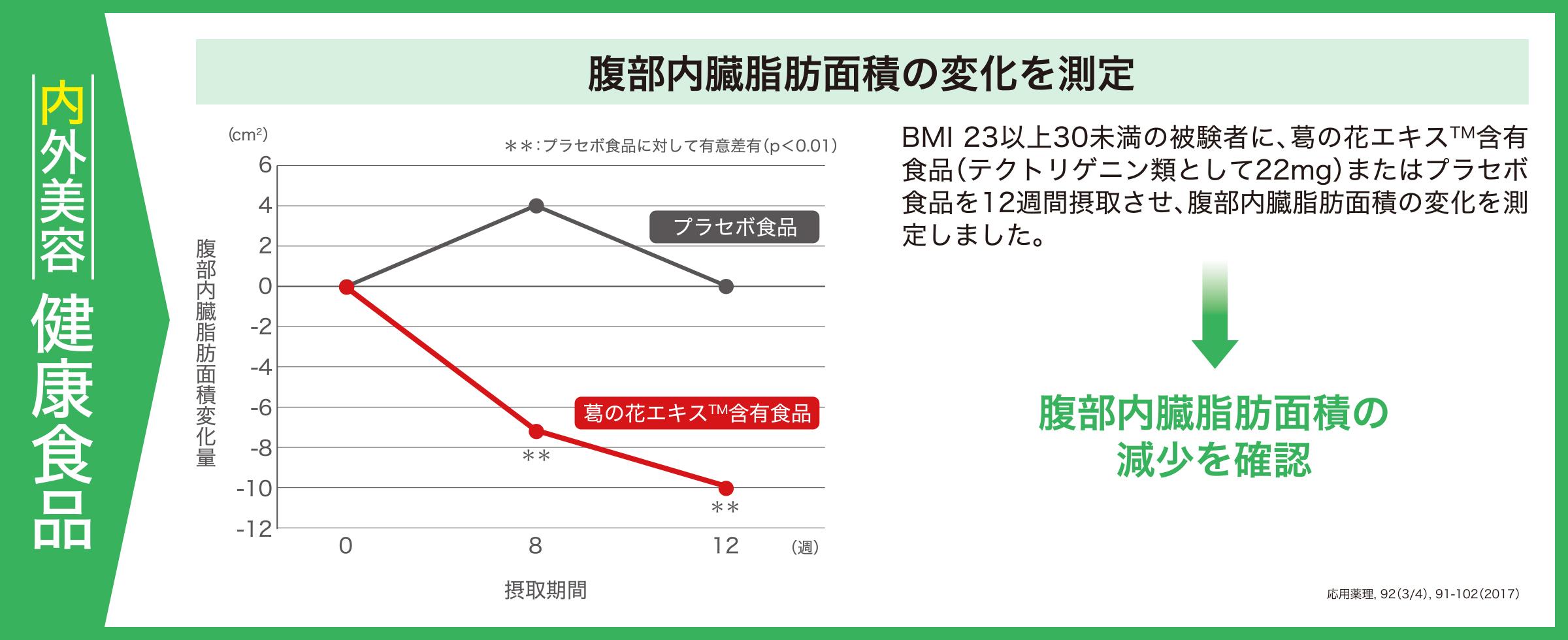 腹部内臓脂肪面積の変化を測定