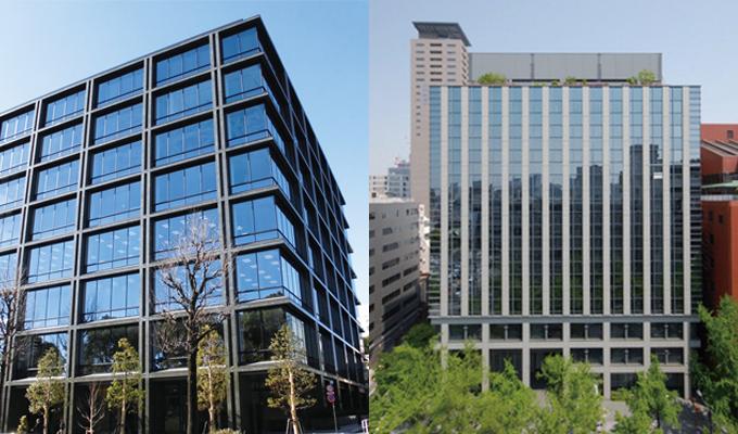 東京支店(左)/大阪支店(右)